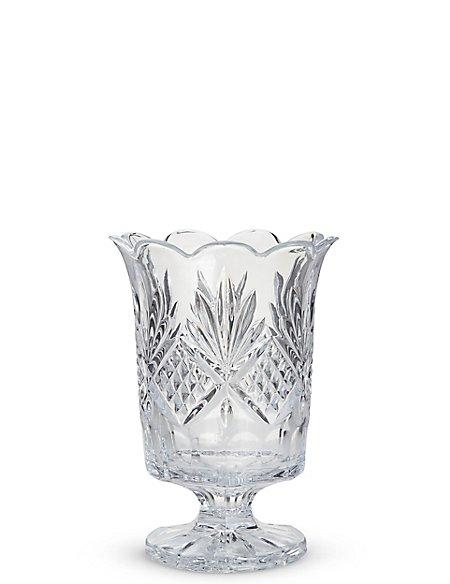 Pressed Glass Hurricane Candleholder