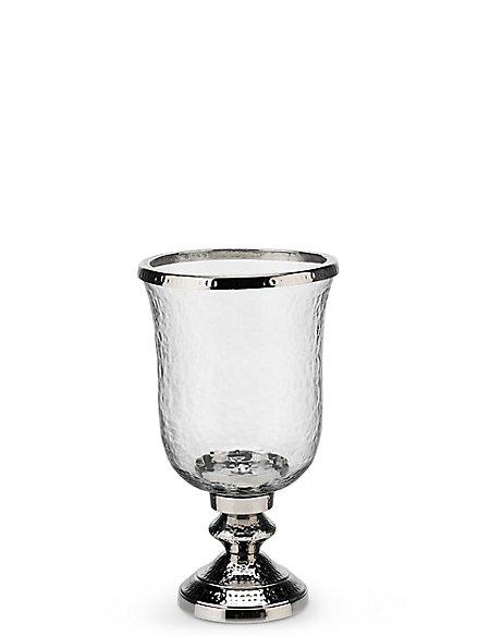 Glass & Metal Hurricane Candleholder