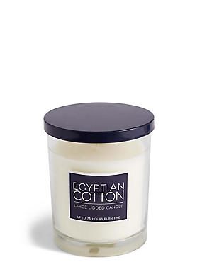 Egyptian Cotton Large Lidded Candle