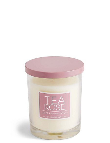 Tea Rose Large Lidded Candle