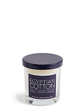 Egyptian Cotton Small Lidded Candle