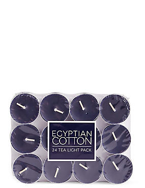 Egyptian Cotton 24 Scented Tea Lights
