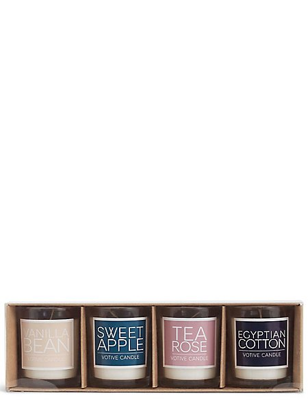 Set of 4 Multi Fragranced Votive Candles