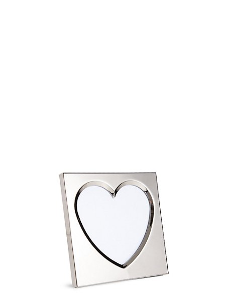 Bevelled Heart Photo Frame 10 x 10cm (4 x 4inch)