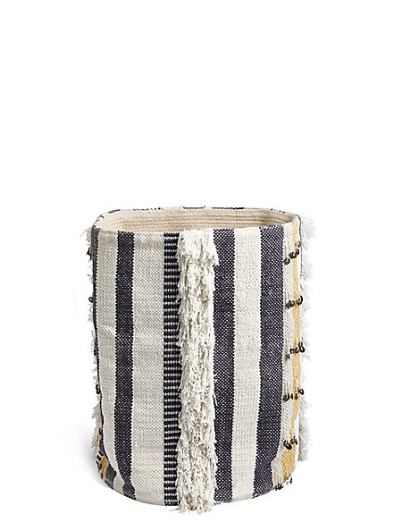 Sequin Braided Storage Basket