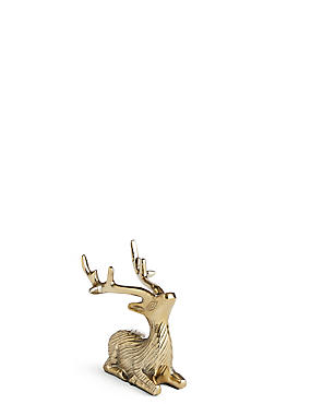 Sitting Stag Objet Ornaments