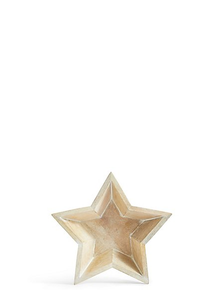 Small Wooden Star Bowl