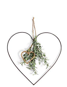 Large Eucalyptus Hanging Heart