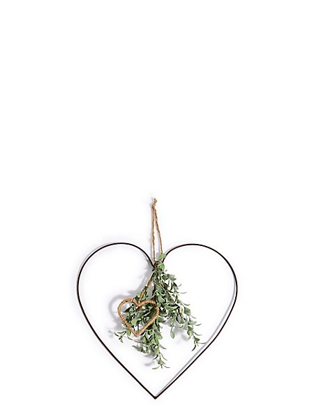 Small Eucalyptus Hanging Heart