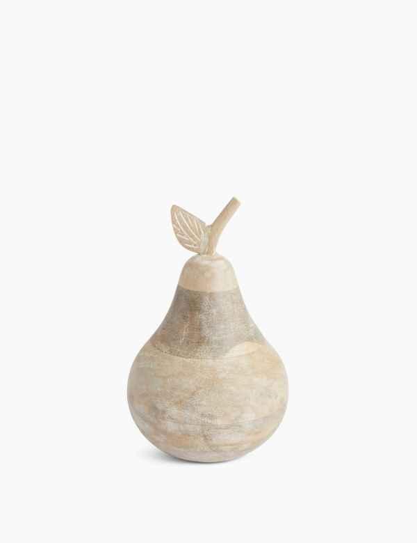 hbp60217365: Wooden Pear Objet