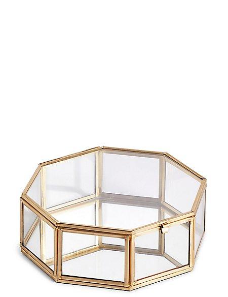 Large Hexagonal Trinket Box