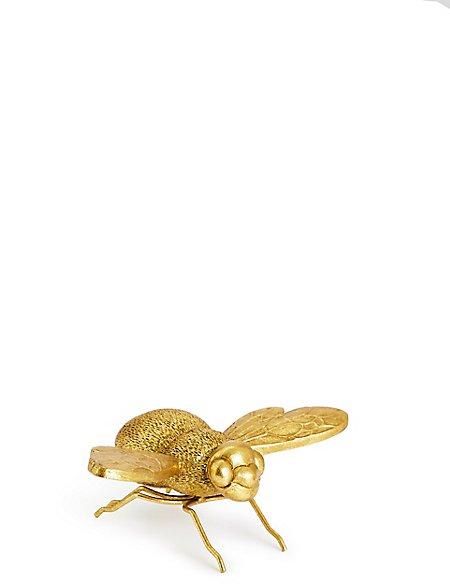 Decorative Brass Bee Objet