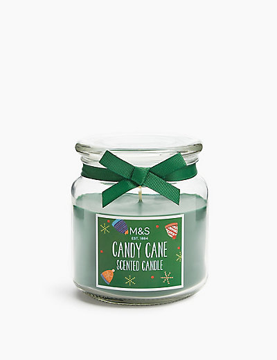Candy Cane Jar Candle Home