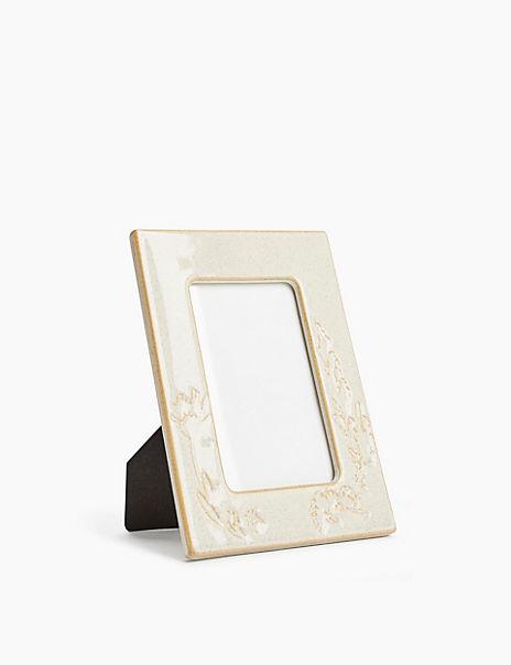 Ceramic Thistle Photo Frame 4 x 4 inch (10 x 10cm)