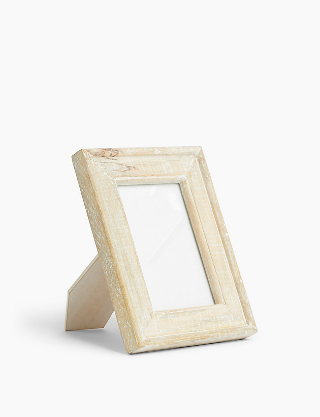 White Washed Photo Frame 4 X 6 Inch
