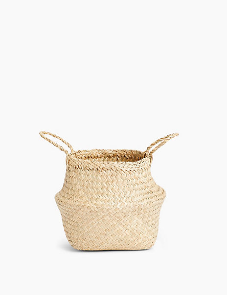 Small Straw Belly Basket