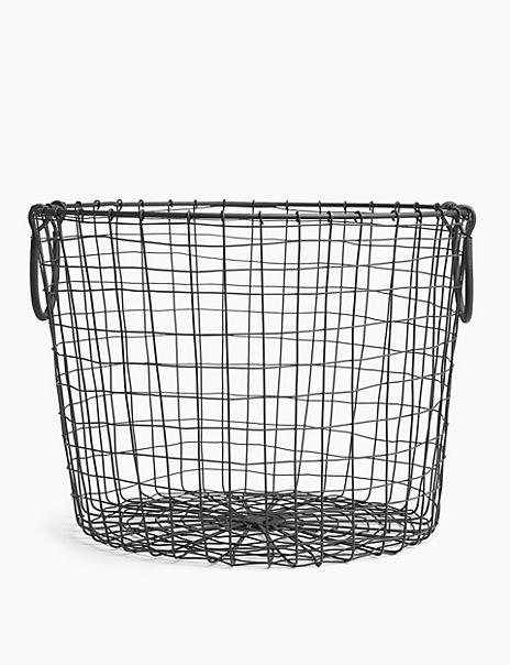 Round Wire Storage Basket