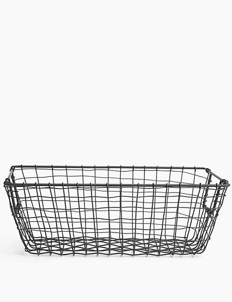 Rectangular Wire Storage Basket