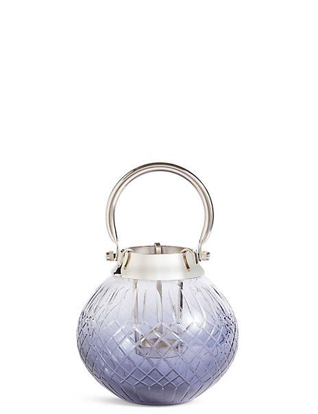 Small Cut Glass Ombre Lantern
