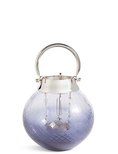 Medium Cut Glass Ombre Lantern