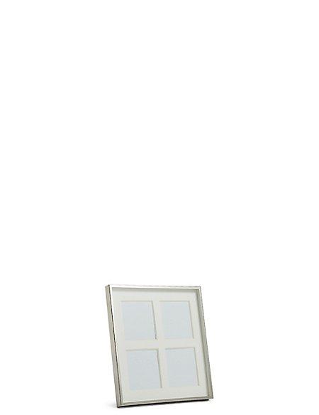 Rita Silver Multi-Aperture Photo Frame 8 x 8cm (3 x 3inch)