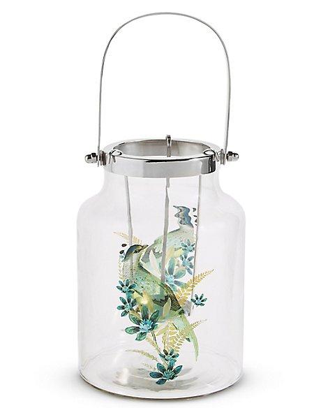 Large Bird Decal Lantern