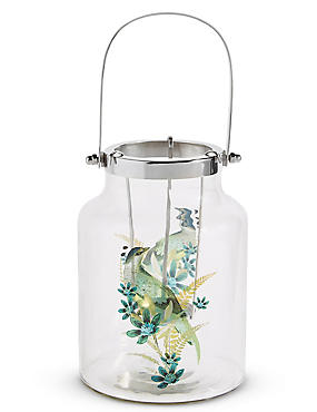 Large Bird Decal Lantern