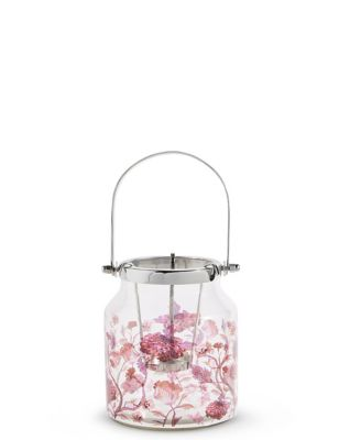 Small Floral Decal Lantern by Marks & Spencer