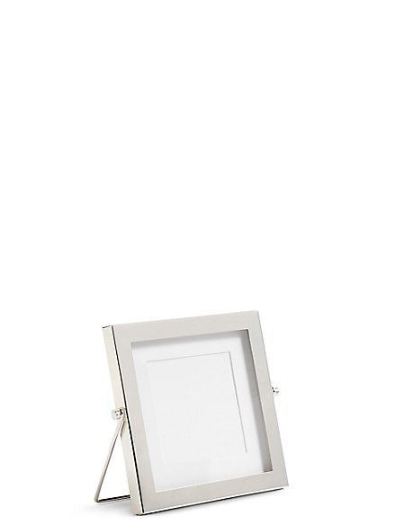 Silver Easel Photo Frame 10 x 10cm (4 x 4inch)