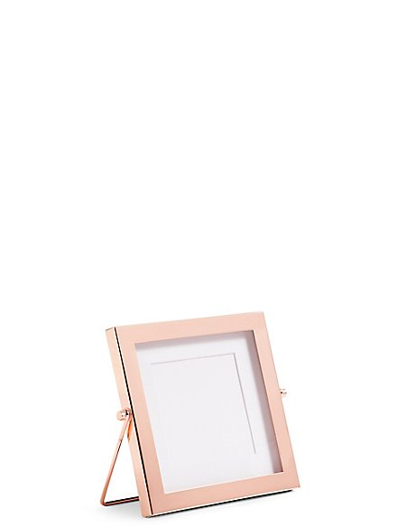 Rose Gold Easel Photo Frame 10 x 10cm (4 x 4inch)