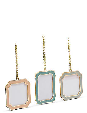 Set of 3 Enamel Photo Frame 8 x 8cm (3 x 3inch)