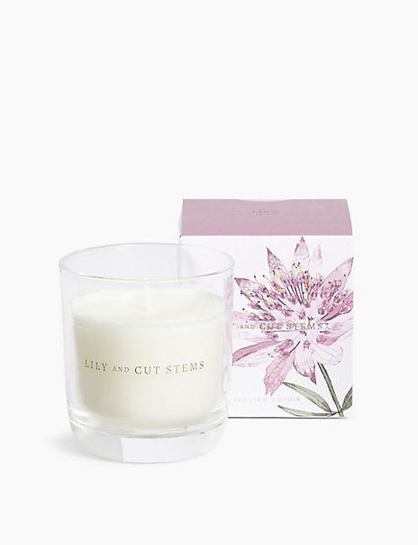 Lily & Cut Stems Candle
