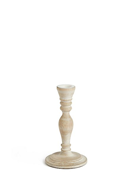 Small Wooden Dinner Candle Holder