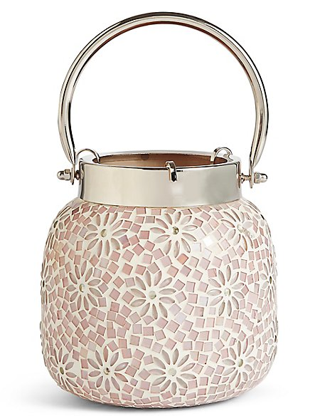Large Flower Beaded Lantern