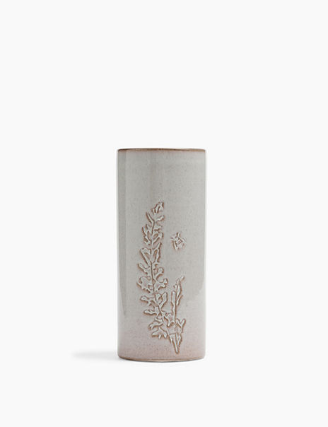 Medium Embossed Thistle Vase