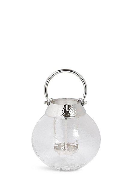 Small Mottled Glass Lantern
