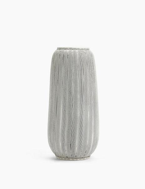 Large Linear Stripe Vase