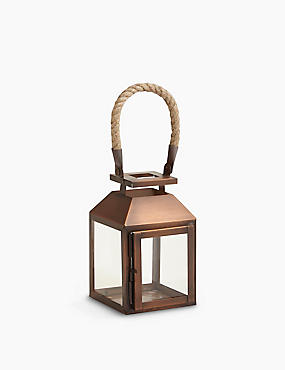 Rope Handle Metal Lantern