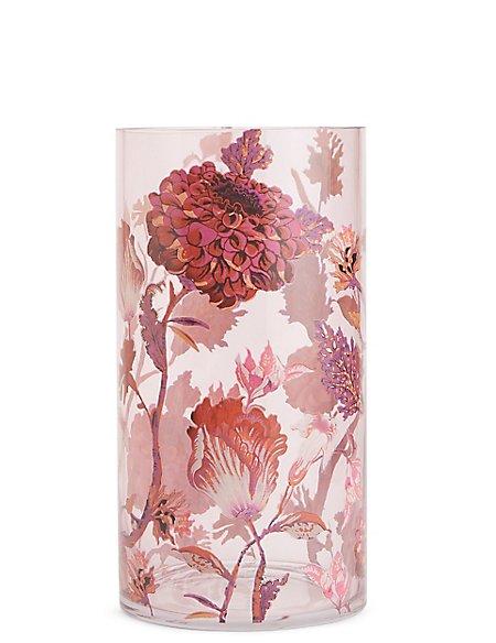 Large Florence Floral Print Vase Ms