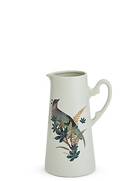 Large Bird Decal Jug