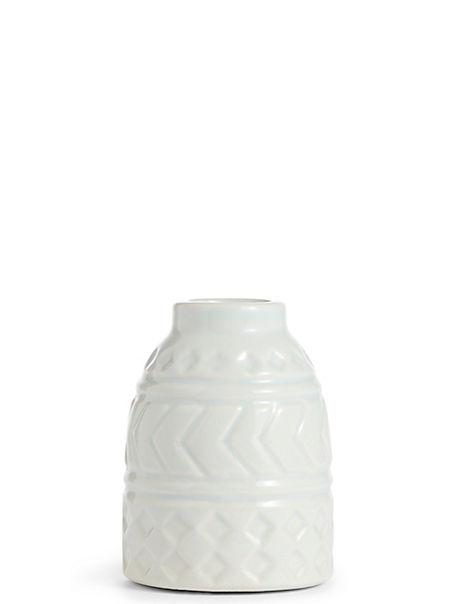 Small Geometric Embossed Vase