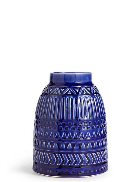 Medium Geometric Embossed Vase