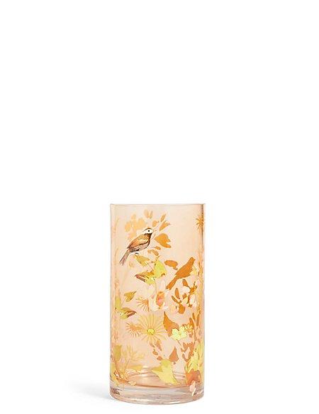 Small Decal Bird Vase