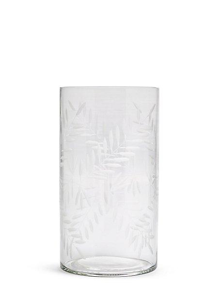 Etched Cylinder Vase