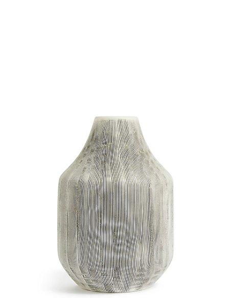 Large Linear Bulb Vase