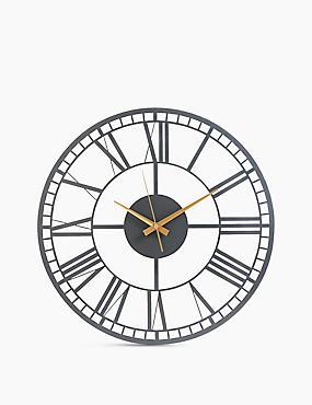 Metal Skeleton Wall Clock