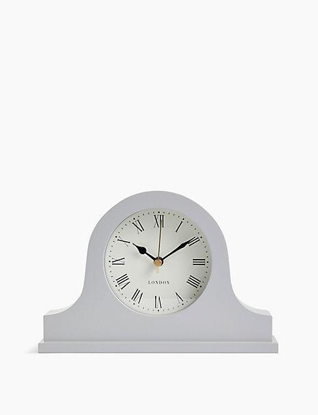Grey Napoleon Mantle Clock
