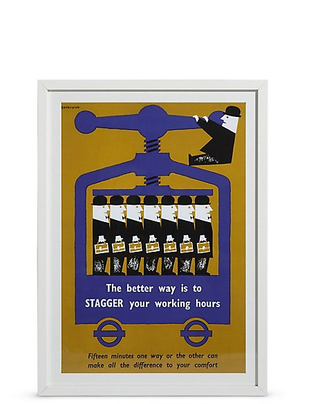 TFL Stagger Working Hours Wall Art