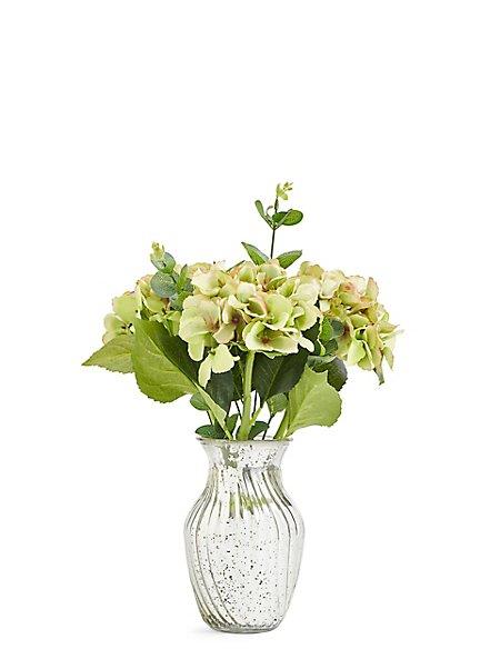 Hydrangeas In Mercury Vase Ms