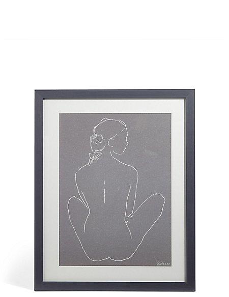 Nude Legs Crossed Wall Art
